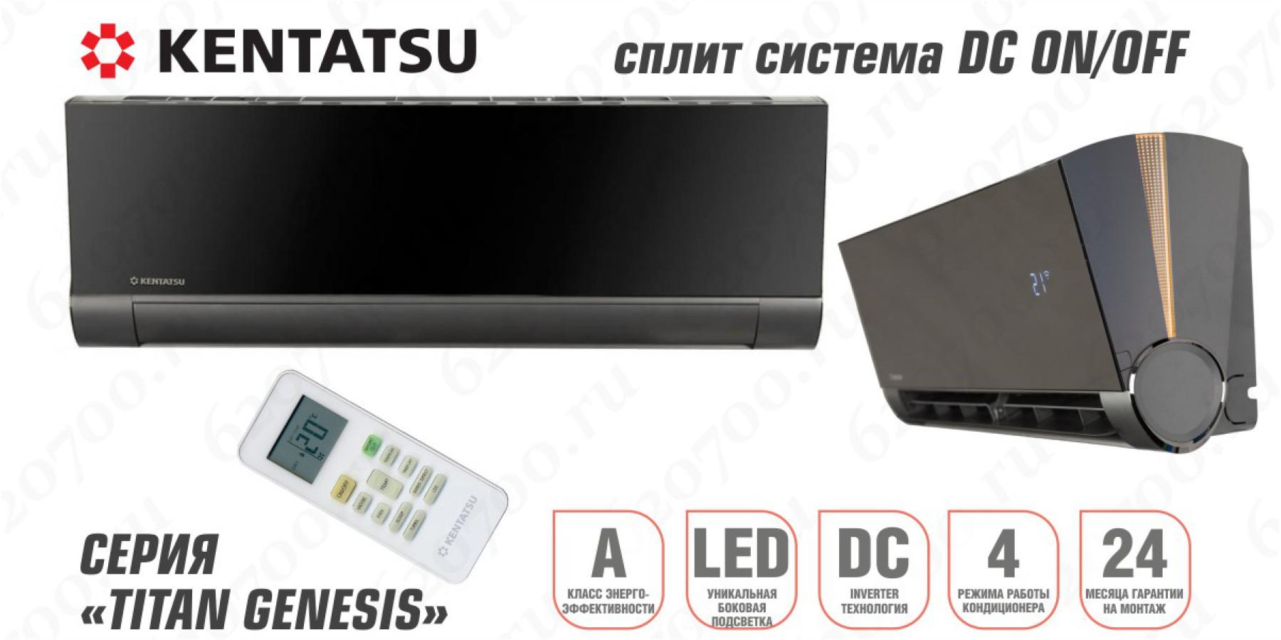 Сплит-система KENTATSU KSGX53HFAN1 / KSRX53HFAN1 цвет чёрный